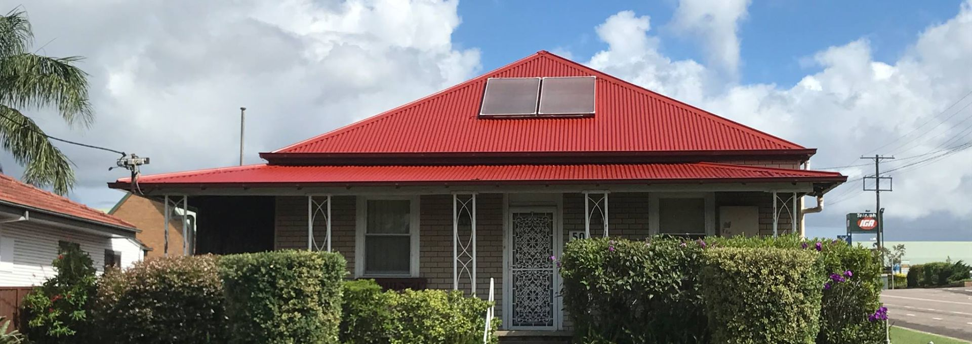 colourbond red roof sunshine coast