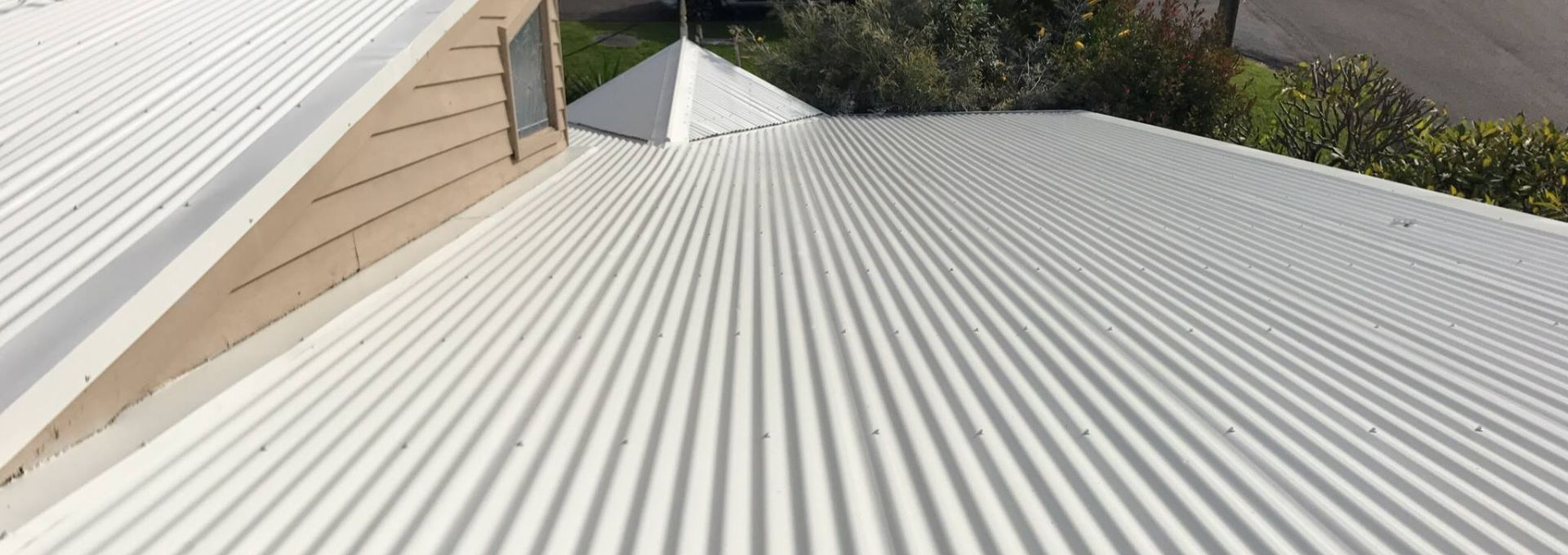 Colorbond roof restoration sunshine coast